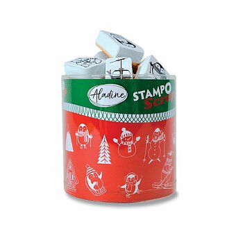 Obrázek produktu Razítka Stampo Scrap - Zimní hrátky - 26 ks