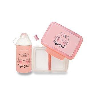 Obrázek produktu Set Zdravá lahev 0,5 l a Zdravá sváča - Mňau