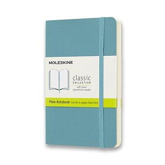 Obrázek produktu Zápisník Moleskine - měkké desky - S, čistý, tyrkysový