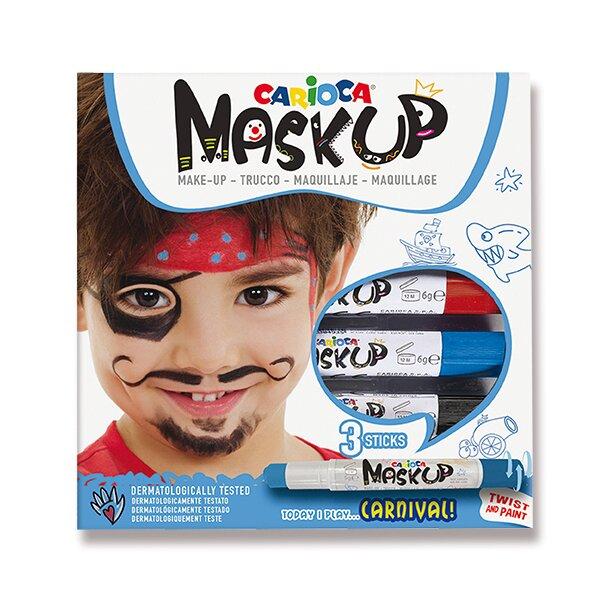 Obličejové barvy Carioca Mask Up Carnival 3 barvy
