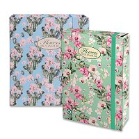 Kartonový box s gumou Pigna Nature Flowers