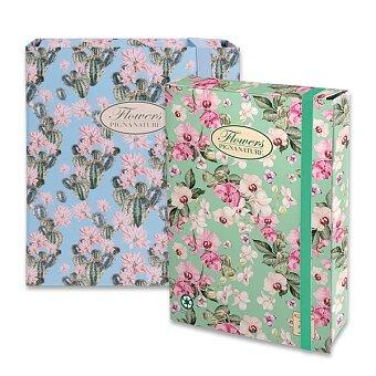 Obrázek produktu Kartonový box s gumou Pigna Nature Flowers - A4, hřbet 70 mm, mix motivů