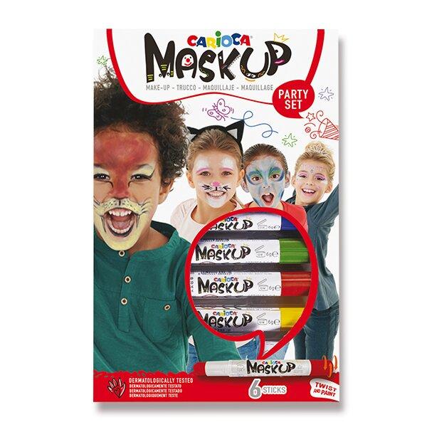 Obličejové barvy Carioca Mask Up 6 barev
