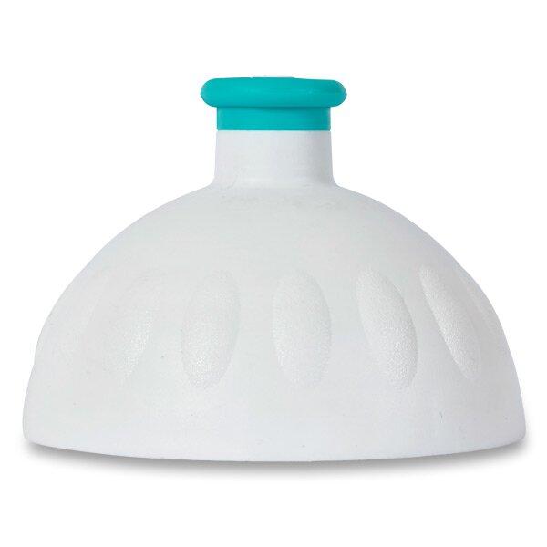Kompletní víčko Zdravá lahev bílé/ tyrkysová zátka