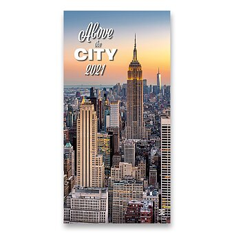 Obrázek produktu Nástěnný obrázkový kalendář Above the City 2021 - 14 listů, 31,5 x 63 cm