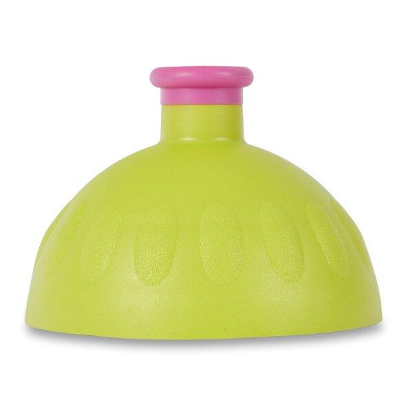 Kompletní víčko Zdravá lahev světle zelené/ fialová zátka