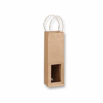 Obrázek produktu NATURA III - papírová taška na 1 láhev vína, přírodní