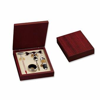 Obrázek produktu MATTHEW II - 4dílná sada na víno v dřevěné dárkové krabičce, chrom