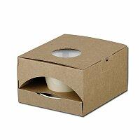 GB CLAUDE - papírová dárková krabička, přírodní