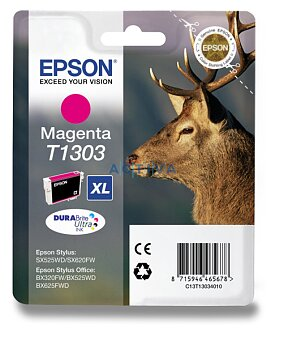 Obrázek produktu Cartridge Epson T130340  pro inkoustové tiskárny - magenta (červená)