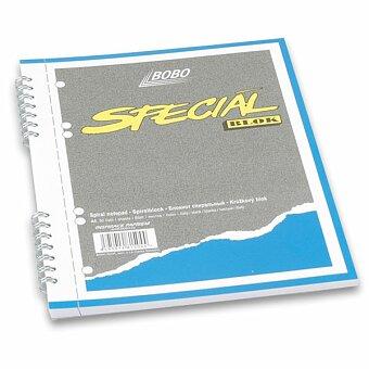 Obrázek produktu Kroužkový blok Bobo Speciál - A5, čistý, 50 listů