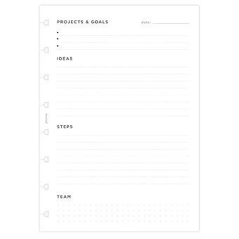 Obrázek produktu A5 Plánování projektů - náplň A5 zápisníků Filofax Notebook