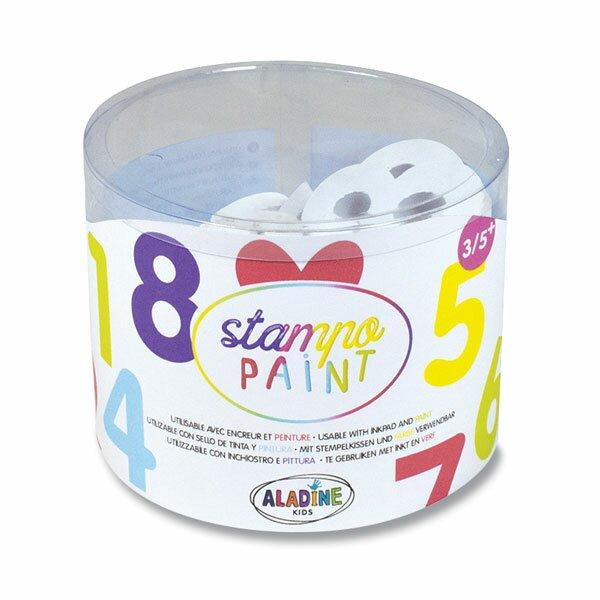 Razítka Aladine Stampo Paint - Číslice 12 razítek