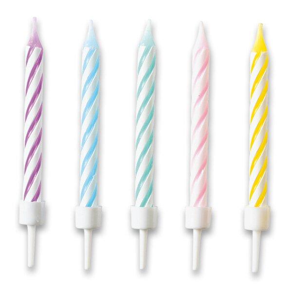 Dortové svíčky pastelové 10 ks