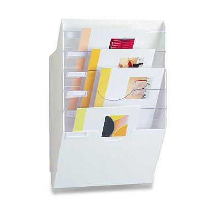 Obrázek produktu CEP Expo - kancelářský odkladač na zeď - bílý, 6 oddílů