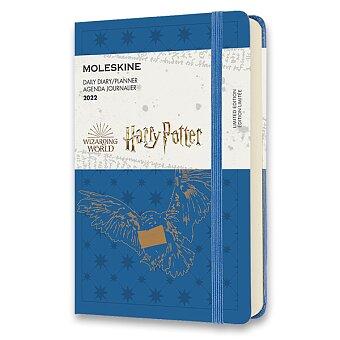 Obrázek produktu Diář Moleskine 2022 Harry Potter - tvrdé desky - S, denní, modrý