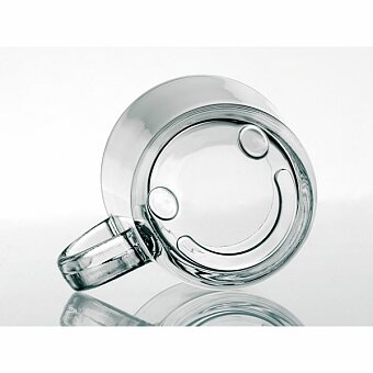 Obrázek produktu SOFFY - skleněný hrnek, 200 ml, transp. průsvitná