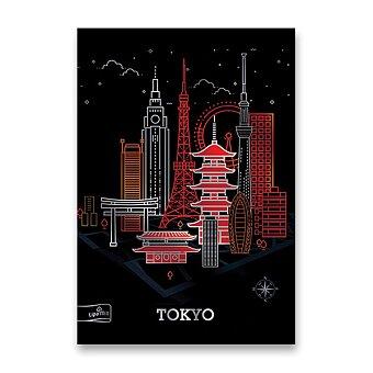 Obrázek produktu Školní sešit Premium Metallic Cities - A4, linkovaný, 40 listů, mix motivů