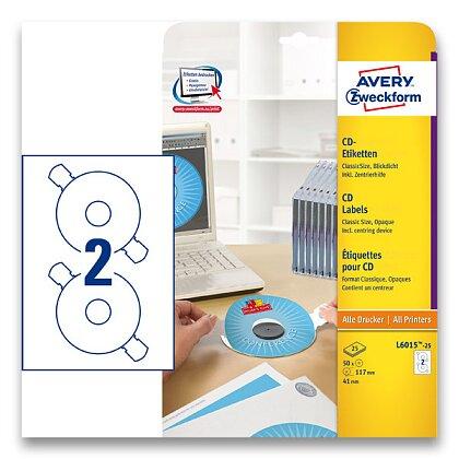 Obrázek produktu Avery Zweckform - CD/DVD etikety - 50 ks, průměr 117 mm