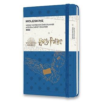 Obrázek produktu Diář Moleskine 2022 Harry Potter - tvrdé desky - S, týdenní, modrý