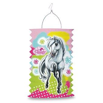 Obrázek produktu Papírová lampion Charming Horses 2 - délka 28 cm