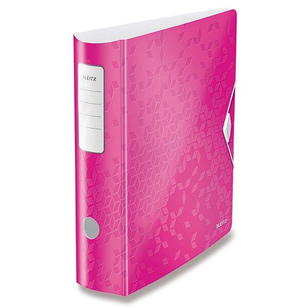 Pákový pořadač Leitz Wow růžový