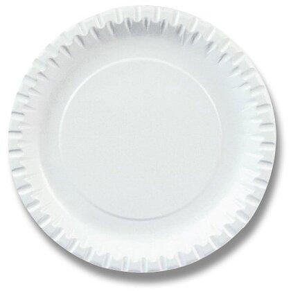 Obrázek produktu Papírový talíř - průměr 18 cm, 100 ks
