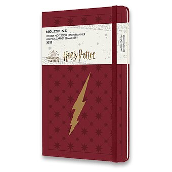 Obrázek produktu Diář Moleskine 2022 Harry Potter - tvrdé desky - L, týdenní,vínový