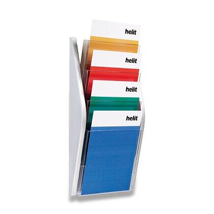Obrázek produktu Helit - nástěnný odkladač - A4, stříbrný
