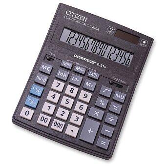 Obrázek produktu Stolní kalkulátor Citizen D-316