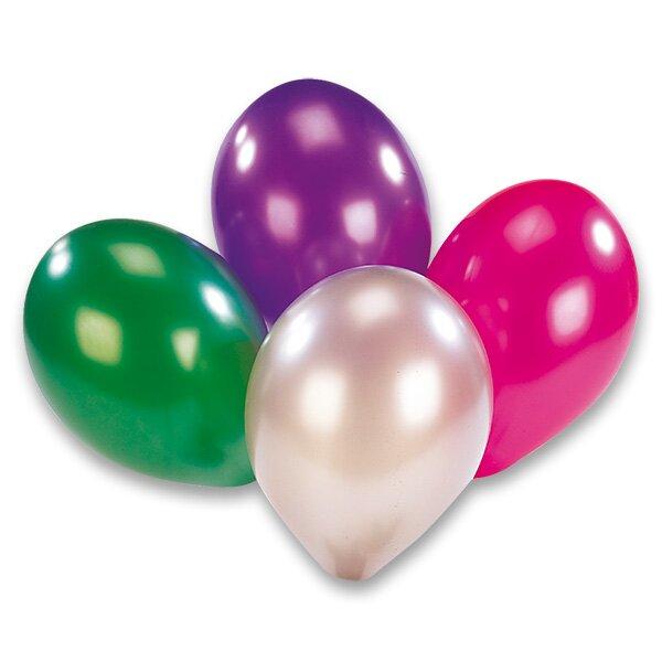 Nafukovací balónky metalické 8 ks, mix barev