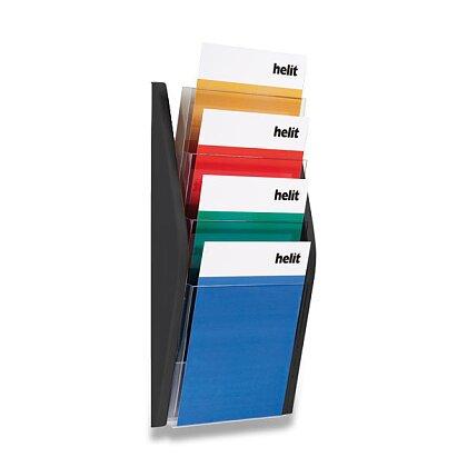 Obrázek produktu Helit - nástěnný odkladač - A4, černý