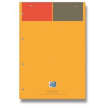 Obrázek produktu Šitý kancelářský blok Oxford Notepad - A4, linkovaný, 80 listů, výběr barevnosti listů