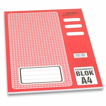 Obrázek produktu Lepený blok Bobo - A4, linkovaný, 50 listů
