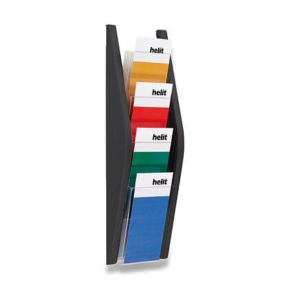 Obrázek produktu Helit - nástěnný odkladač - 1/3 A4, černý