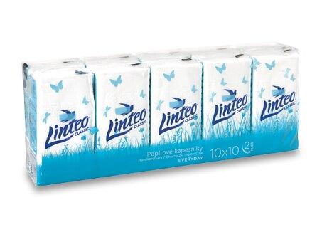 Obrázek produktu Papírové kapesníčky Linteo Classic - 2-vrstvé, 10 x 10 ks