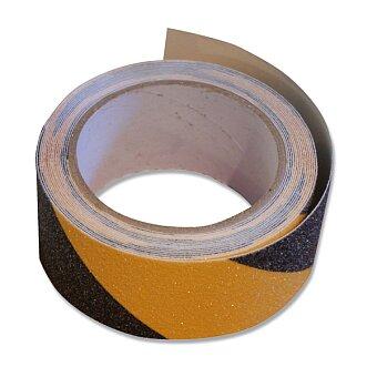 Obrázek produktu Samolepící protiskluzová páska - šíře 50 mm, návin 5 m, žlutočerná