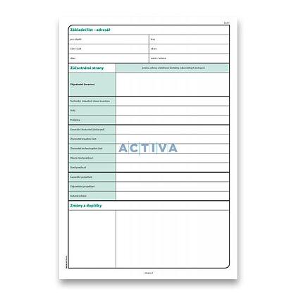 Obrázek produktu Optys - stavební deník - A4, NCR číslovaný, 128 listů