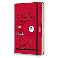 Diář Moleskine 2022 Peanuts - tvrdé desky