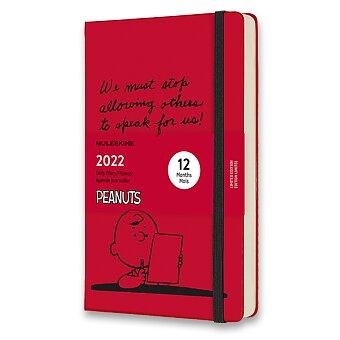 Obrázek produktu Diář Moleskine 2022 Peanuts - tvrdé desky - L, denní, červený