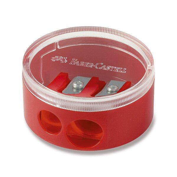 Ořezávátko Faber-Castell se zásobníkem 2 otvory, mix barev
