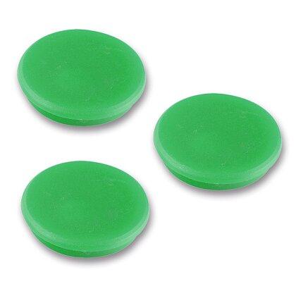 Product image Magnety v plastu - průměr 24 mm, 100 ks, zelené
