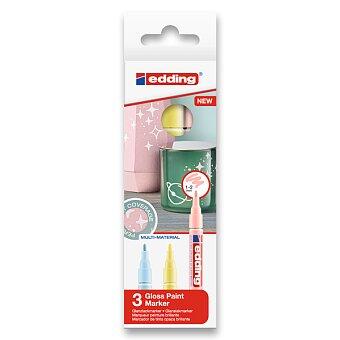 Obrázek produktu Lakový popisovač Edding Paint Marker 751 - sada 3 pastelových barev