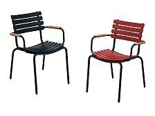 Židle s bambusovými područkami Houe Clips