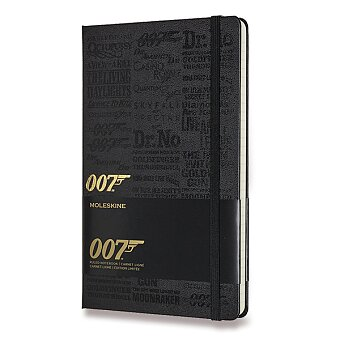 Obrázek produktu Zápisník Moleskine James Bond - L, linkovaný, Titles