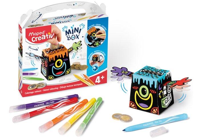 Kreativní sada Maped Creativ Mini Box pokladnička – sametové malování