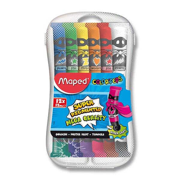 Temperové barvy Maped Color'Peps 12 barev, tuba 12 ml
