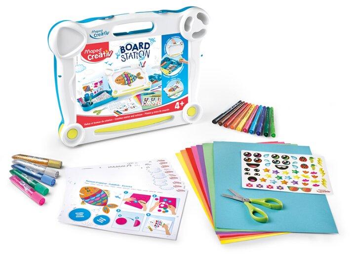 Výtvarná sada pro začínající umělce - Maped Creativ Board Station výtvarný kufřík na cesty