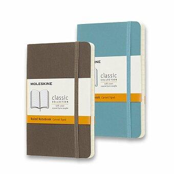 Obrázek produktu Zápisník Moleskine - měkké desky - S, linkovaný, výběr barev