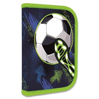 Obrázek produktu Penál Fotbal - 1patrový, 1 chlopeň, s náplní